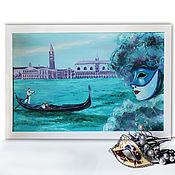 Картины и панно handmade. Livemaster - original item Interior painting maslana canvas Fabulous city of Venice. Handmade.