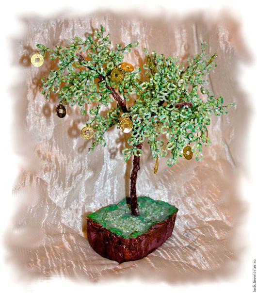 Деревья ручной работы. Ярмарка Мастеров - ручная работа. Купить Денежное дерево. Handmade. Комбинированный, подарок, Праздник, быт, монеты
