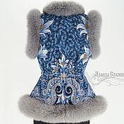 """Одежда ручной работы. Ярмарка Мастеров - ручная работа Жилет """"Морозко-22"""" с натуральным мехом серого песца. Handmade."""