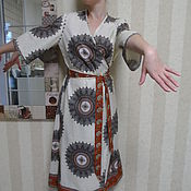 """Одежда ручной работы. Ярмарка Мастеров - ручная работа Халат """"ТЕМПУРА"""". Handmade."""