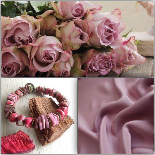 """Браслеты ручной работы. Ярмарка Мастеров - ручная работа. Купить Браслет """"Пыльно-розовый"""". Handmade. Розовый, розовый браслет"""