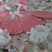 """Работы для детей, ручной работы. Ярмарка Мастеров - ручная работа Комлект """" Нежность"""" (повтор в розом цвете). Handmade."""