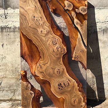 Для дома и интерьера ручной работы. Ярмарка Мастеров - ручная работа Стол река из карагача. Handmade.