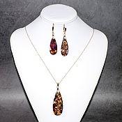 Украшения handmade. Livemaster - original item Earrings and pendant made of natural variscite. Handmade.