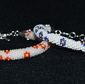 """Украшения ручной работы. Ярмарка Мастеров - ручная работа Бисерные браслеты """"В цветочек"""". Handmade."""