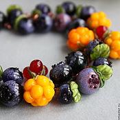 """Украшения ручной работы. Ярмарка Мастеров - ручная работа Браслет лэмпворк """"Таежные ягоды"""" бусины лэмпворк, медь. Handmade."""