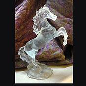 Для дома и интерьера ручной работы. Ярмарка Мастеров - ручная работа Конь статуэтка из хрусталя.. Handmade.