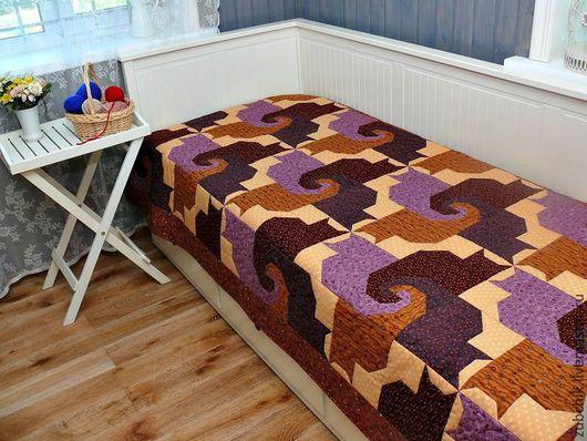 Текстиль, ковры ручной работы. Ярмарка Мастеров - ручная работа. Купить Лоскутное покрывало Московские коты в прованском стиле. Handmade.
