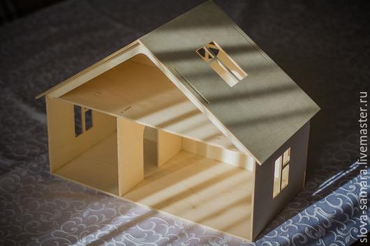 Кукольный дом ручной работы. Ярмарка Мастеров - ручная работа. Купить Кукольный домик. Handmade. Бежевый, кукольный домик, берёза