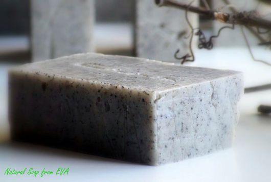Мыло ручной работы. Ярмарка Мастеров - ручная работа. Купить Мужское мыло ручной работы «Маковое поле». Handmade. Серый