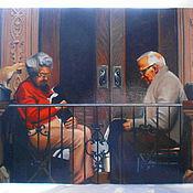 """Картины и панно ручной работы. Ярмарка Мастеров - ручная работа картина """"Пожилая пара"""". Handmade."""