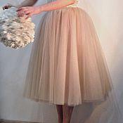 Одежда ручной работы. Ярмарка Мастеров - ручная работа Юбка пачка Миди из фатина. Handmade.