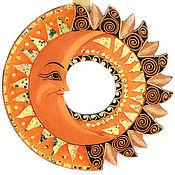 """Для дома и интерьера ручной работы. Ярмарка Мастеров - ручная работа Зеркало """"Солнце и Луна"""" 40 см. Handmade."""