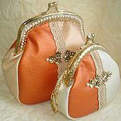 Сумки и аксессуары handmade. Livemaster - original item Set cosmetic bag purse