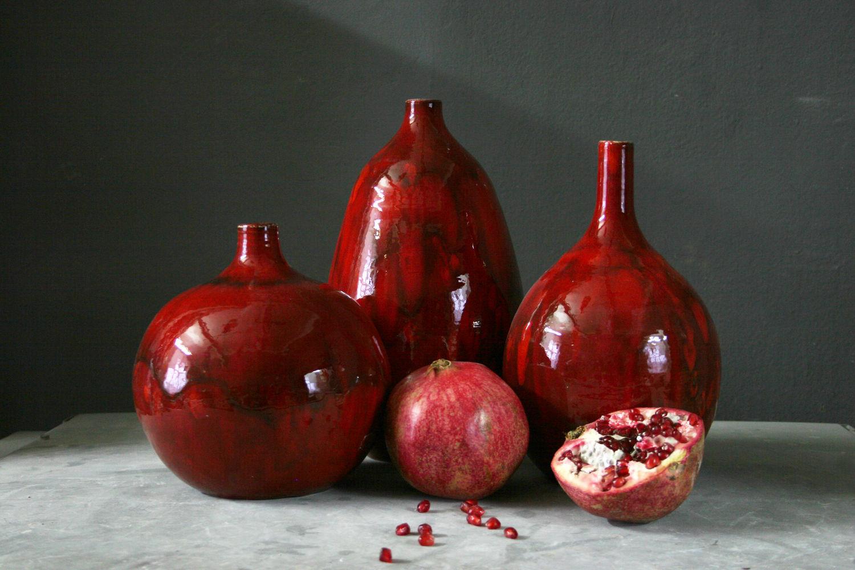 Красная керамическая ваза, Вазы, Санкт-Петербург,  Фото №1