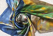 """Аксессуары ручной работы. Ярмарка Мастеров - ручная работа Платок """"Мелодия весны"""". Handmade."""