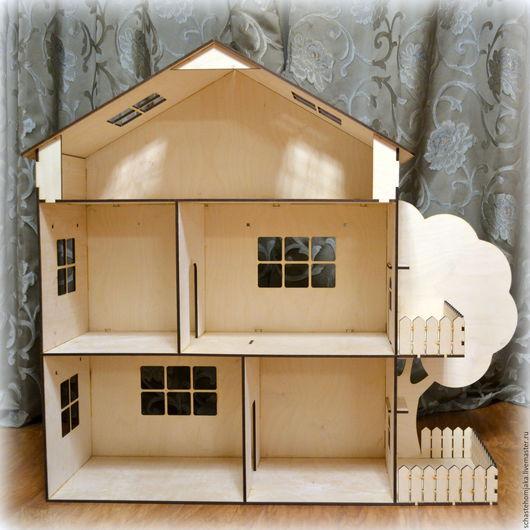 Кукольный дом ручной работы. Ярмарка Мастеров - ручная работа. Купить Огромный кукольный домик. Деревянный. Handmade. Домик