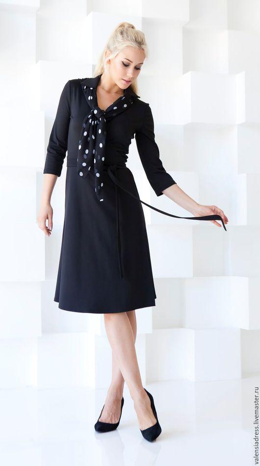 Платья ручной работы. Ярмарка Мастеров - ручная работа. Купить Платье на каждый день из джерси, платье на запах.. Handmade. Черный