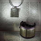 Украшения ручной работы. Ярмарка Мастеров - ручная работа Комплект Буквицы (браслет и кулон). Handmade.