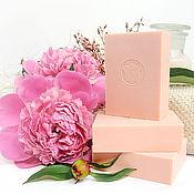"""Мыло ручной работы. Ярмарка Мастеров - ручная работа """"Розовый пион"""" натуральное мыло с шелком. Handmade."""