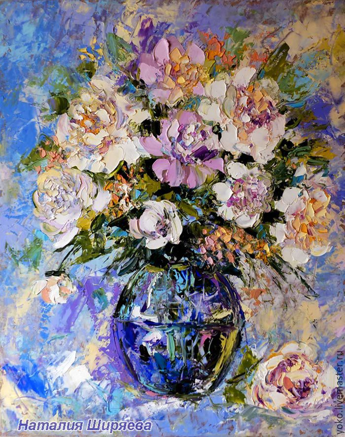 Flower Painting Handmade. Livemaster   Handmade. Buy Painting With Peonies  U0027Fragrant Summeru0027