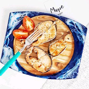 Для дома и интерьера ручной работы. Ярмарка Мастеров - ручная работа Блюдо для рыбы из сосны. Handmade.