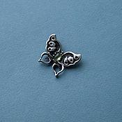 """Украшения ручной работы. Ярмарка Мастеров - ручная работа брошь """"жизнь Бабочки так мимолетна..."""", серебро, пренит. Handmade."""