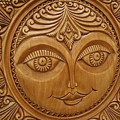 Картины и панно handmade. Livemaster - original item The Sun, the Abramtsevo-Kudrin carving. Handmade.