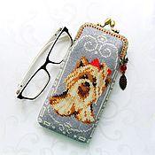 Сумки и аксессуары handmade. Livemaster - original item Beaded glasses case with clasp