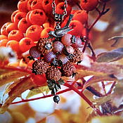 Украшения ручной работы. Ярмарка Мастеров - ручная работа Сотуар Зимняя ягода. Handmade.