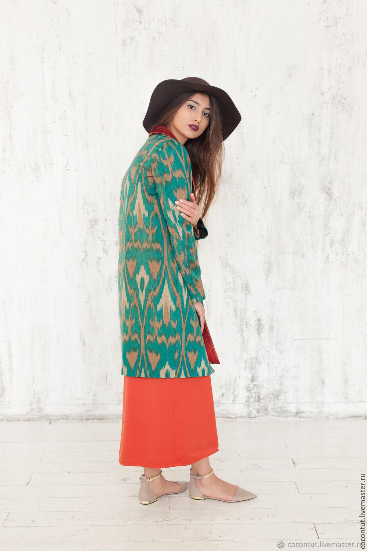 Верхняя одежда ручной работы. Ярмарка Мастеров - ручная работа. Купить 30% Шелковое пальто 'Изумруд'. Handmade. Зеленый