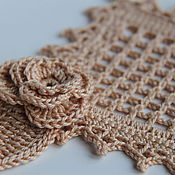 Для дома и интерьера handmade. Livemaster - original item napkin rose. Handmade.