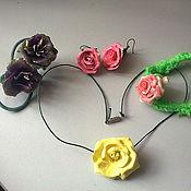 Украшения ручной работы. Ярмарка Мастеров - ручная работа Цветочки из пластики. Handmade.