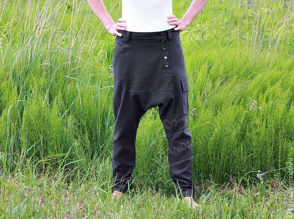 pants breeches unisex knit pockets khaki, Pants, Moscow,  Фото №1
