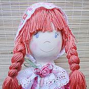 Куклы и игрушки ручной работы. Ярмарка Мастеров - ручная работа Фланелевая текстильная кукла в кроватку детям от 1 года Розочка. Handmade.