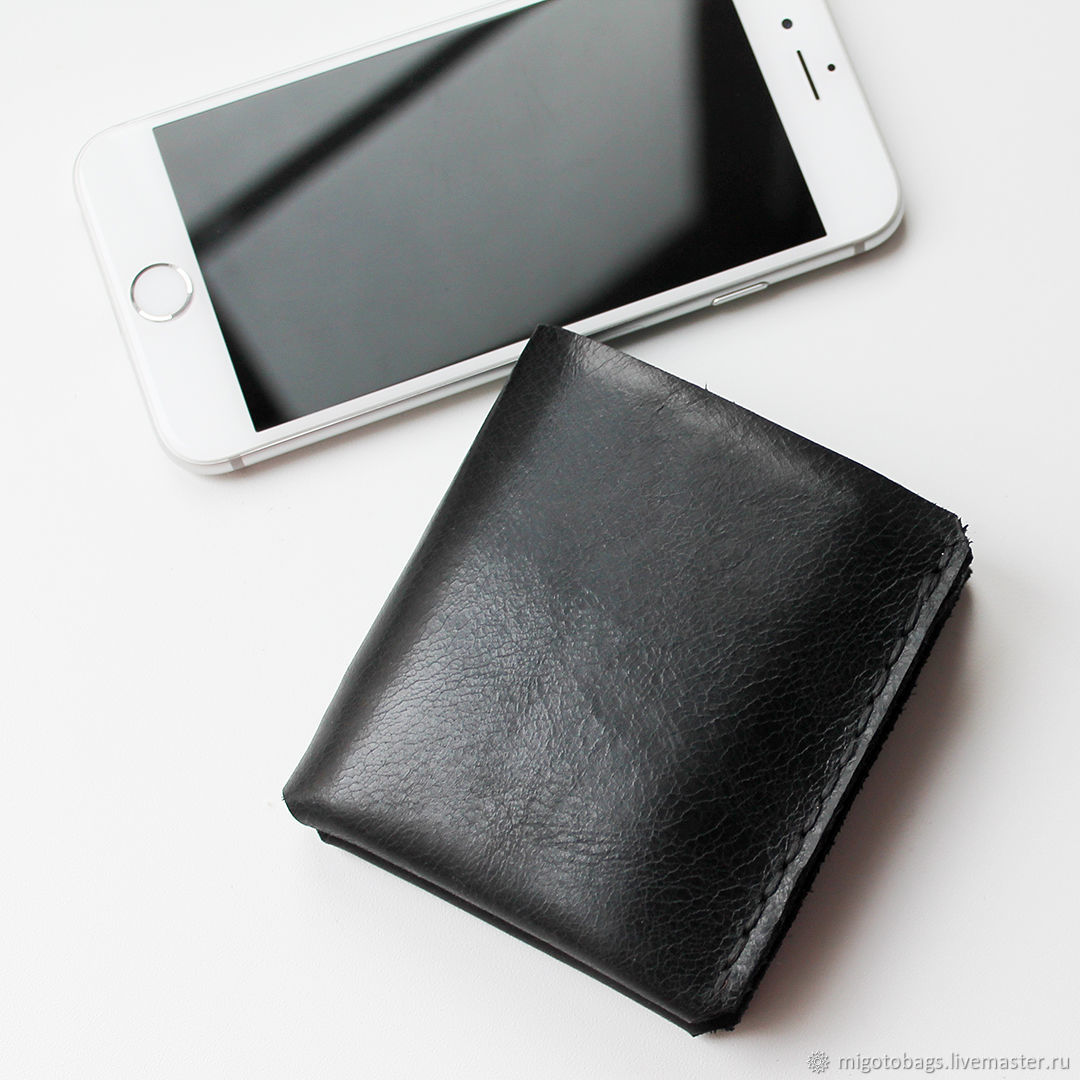 wallet mens leather black – shop online on Livemaster with shipping ...