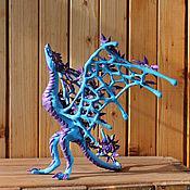Куклы и игрушки ручной работы. Ярмарка Мастеров - ручная работа Статуэтка Дракон летних сумерек, игрушка, подарок, украшение интерьера. Handmade.