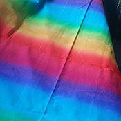 """Материалы для творчества ручной работы. Ярмарка Мастеров - ручная работа Хлопок """"радуга"""", отрез. Handmade."""