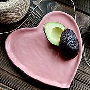 Посуда handmade. Livemaster - original item Heart ceramic. Handmade ceramic heart. Plate Heart. Handmade.