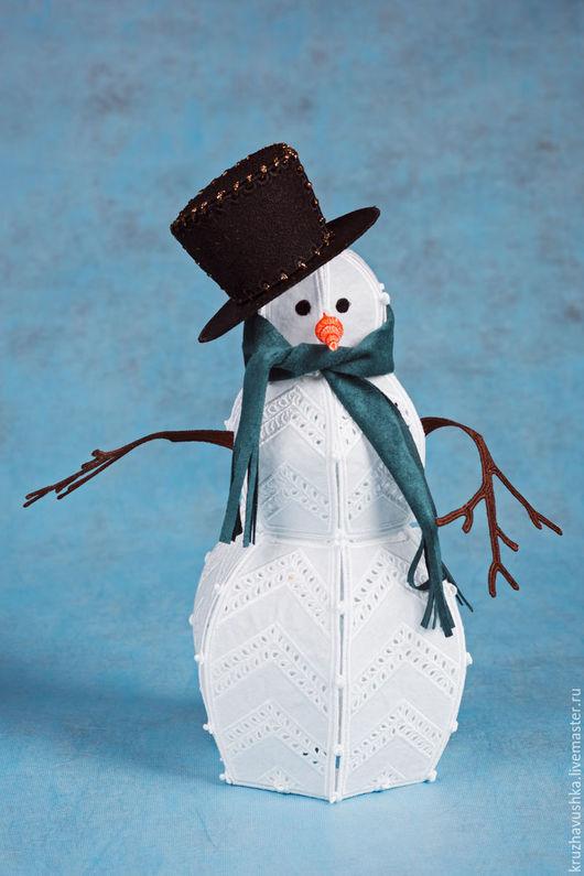 Новый год 2017 ручной работы. Ярмарка Мастеров - ручная работа. Купить Снеговичок. Handmade. Комбинированный, новогодний светильник