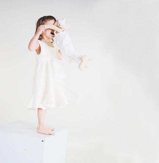 Одежда для девочек, ручной работы. Ярмарка Мастеров - ручная работа. Купить Белое платье для девочки.. Handmade. Платье, подарок для детей