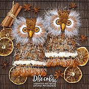 Аксессуары handmade. Livemaster - original item OWL. Mitts, Owls. Handmade.