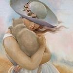 Людмила Сидоренко *Шёлковый кот* - Ярмарка Мастеров - ручная работа, handmade