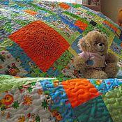 """Для дома и интерьера ручной работы. Ярмарка Мастеров - ручная работа Детское одеялко """"Лоскутное"""" для мальчика. Handmade."""