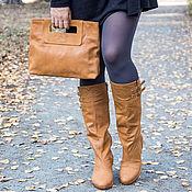 Обувь ручной работы handmade. Livemaster - original item Leather winter boots. Handmade.