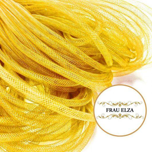 Другие виды рукоделия ручной работы. Ярмарка Мастеров - ручная работа. Купить Регилин трубчатый 4 мм. Желтый. Handmade.