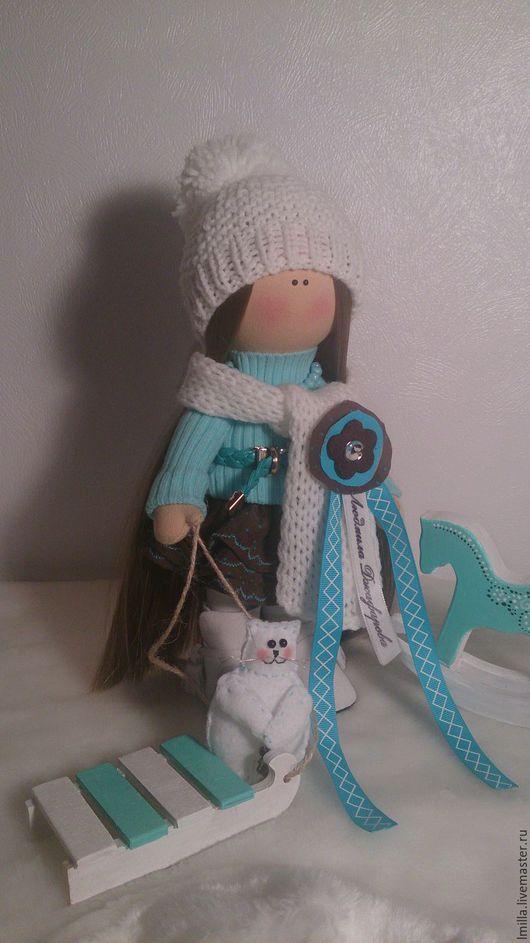 Куклы тыквоголовки ручной работы. Ярмарка Мастеров - ручная работа. Купить Текстильная кукла ручной работы. Handmade. Бирюзовый, малышка