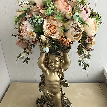 Цветы и флористика ручной работы. Ярмарка Мастеров - ручная работа Сливочно-мятный ангел. Handmade.