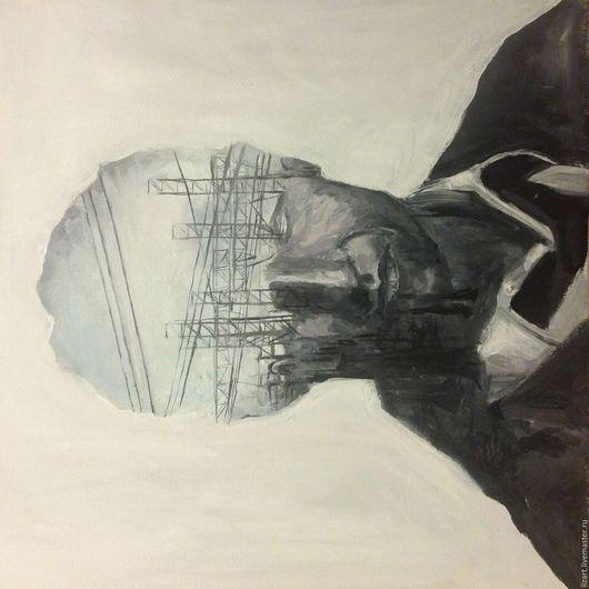 Люди, ручной работы. Ярмарка Мастеров - ручная работа. Купить Картина Настоящий детектив 3. Handmade. Серый, картина