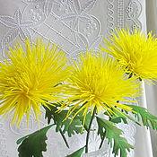 Цветы интерьерные Хризантемы из фоамирана
